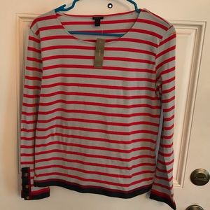 J. Crew black label. Stripes top. Size X small